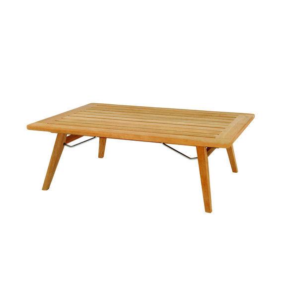 Table basse classique / en teck / rectangulaire / de jardin ...