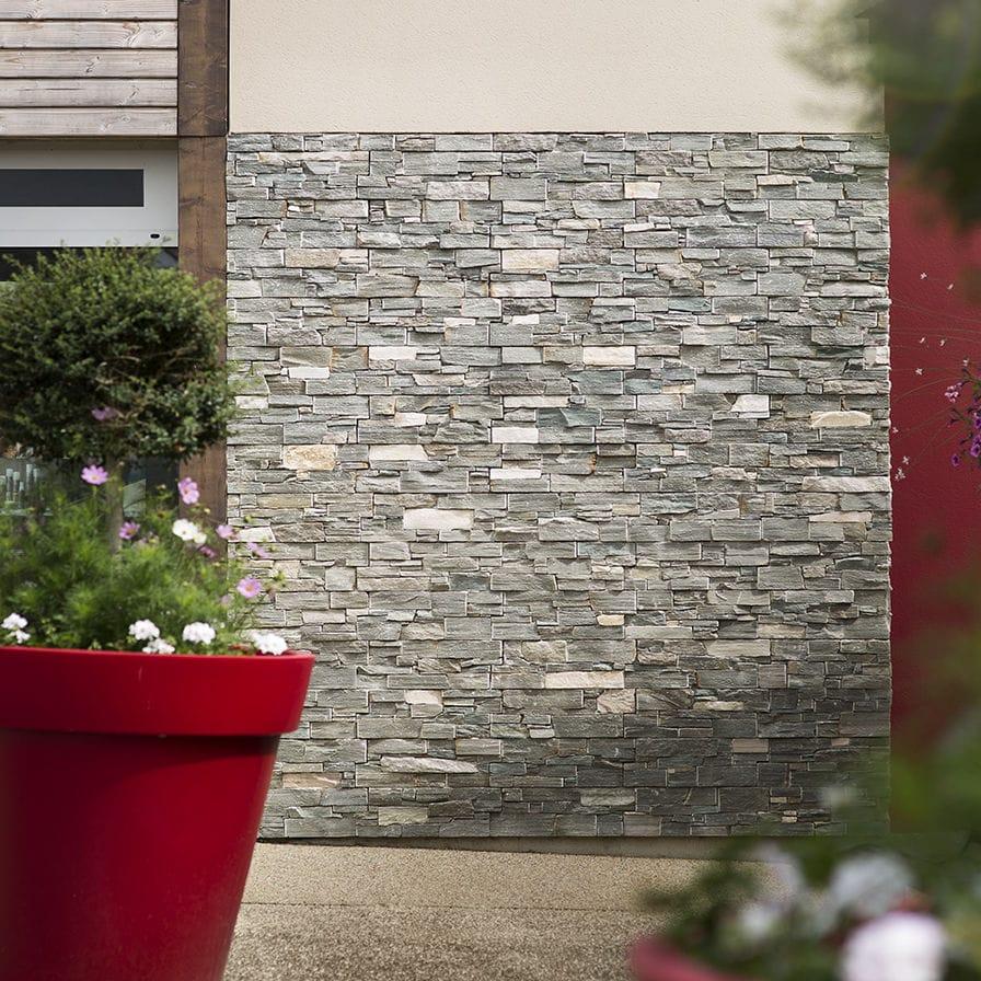 Plaquette Pierre Naturelle Ardoise plaquette de parement en pierre naturelle / extérieure / intérieure /  rustique nordic cupa stone