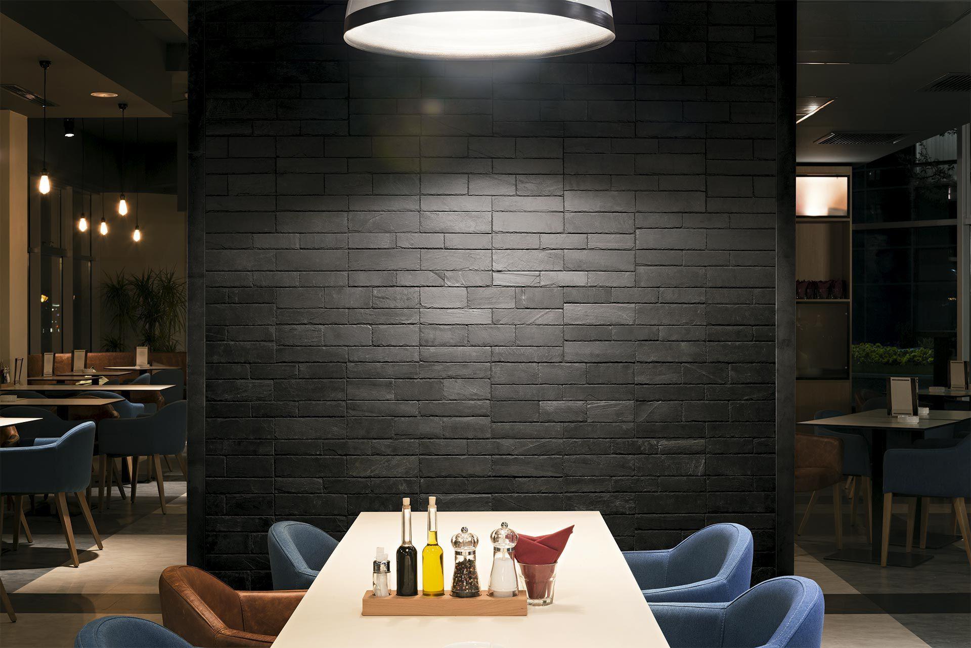 Mur Parement Interieur Ardoise plaquette de parement en ardoise / d'intérieur / texturée