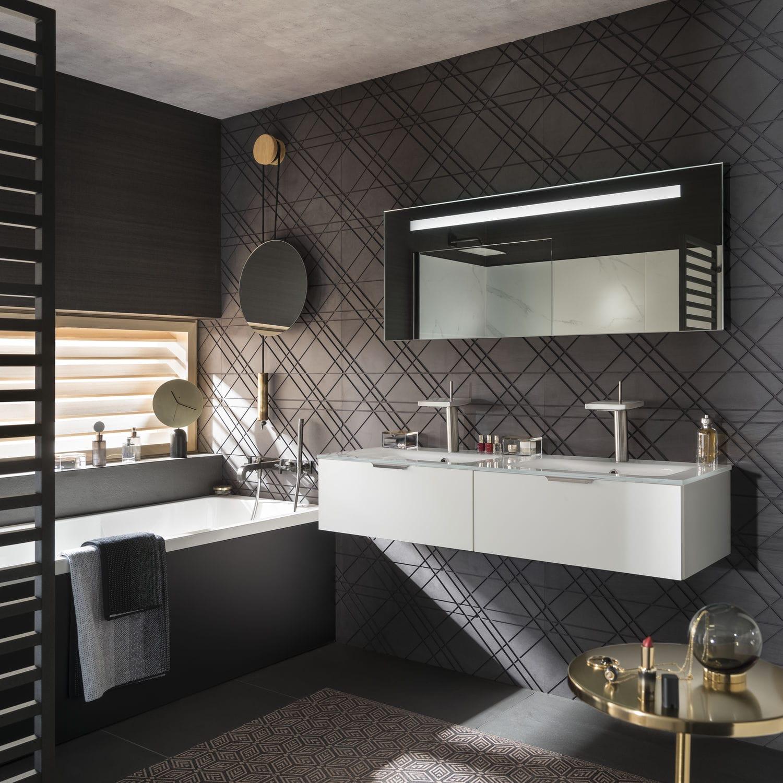 Salle de bain contemporaine / en verre / sur mesure - UNIQUE ...