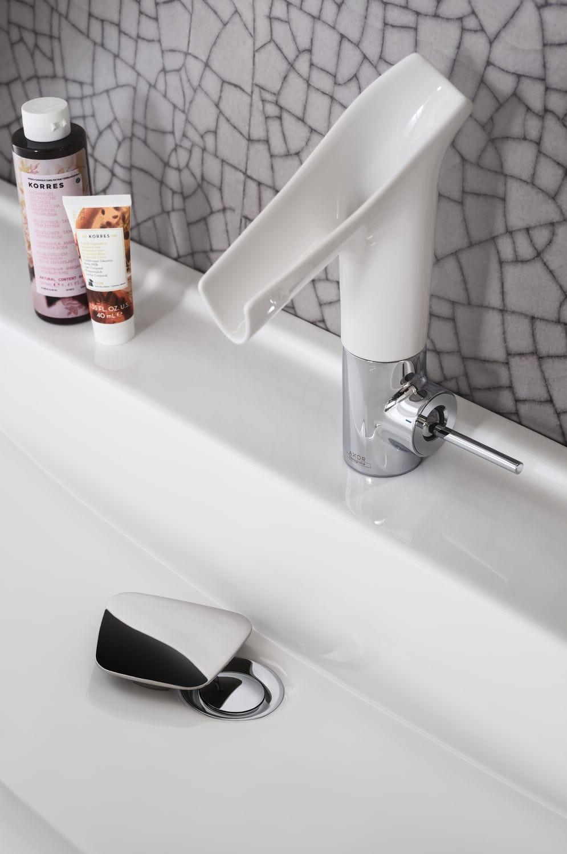 Salle de bain contemporaine / en céramique / en plaqué bois ...