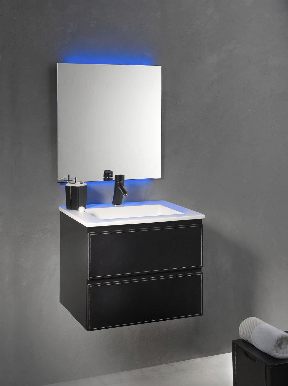 Meuble vasque suspendu / en bois / contemporain / avec ...