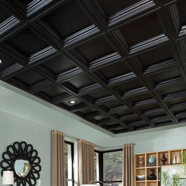 Nouvel Faux-plafond PVC / en dalles / décoratif / avec relief - DEEP TI-02