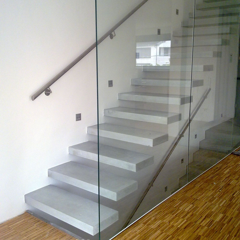 Escalier droit / marche en béton / sans contremarche ...