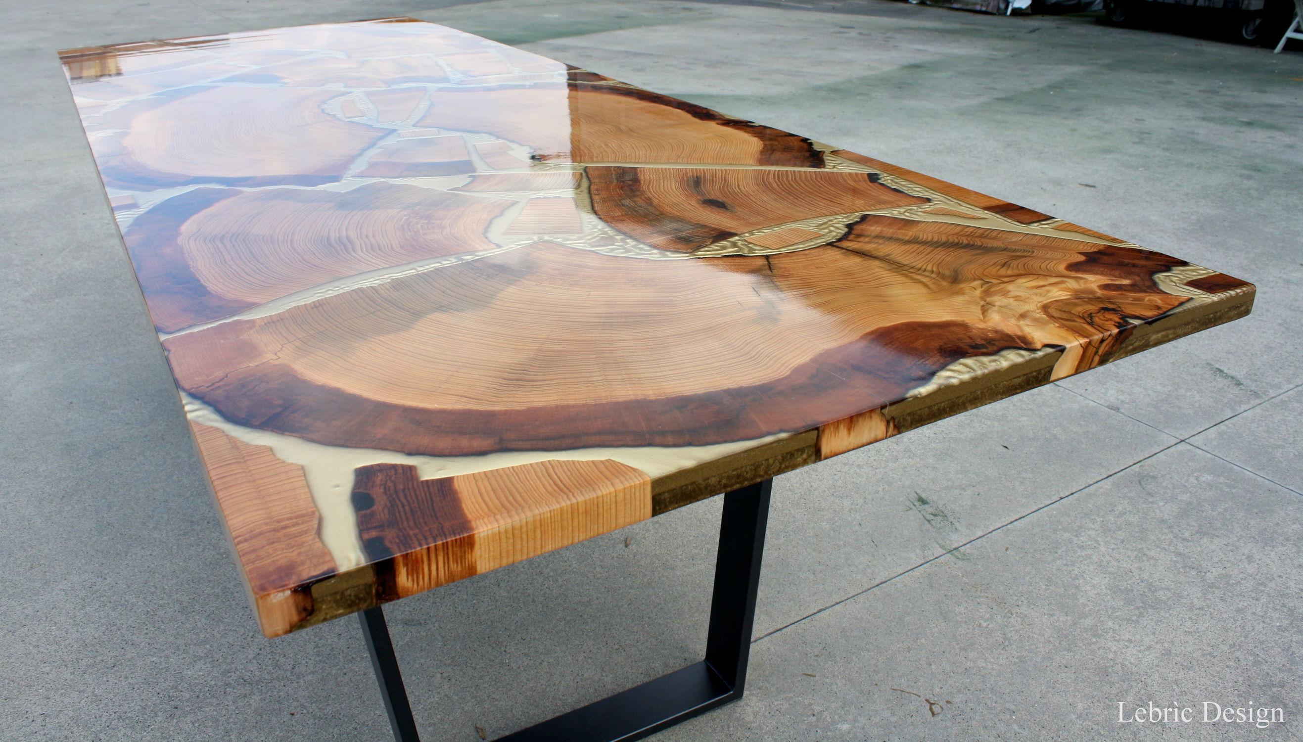 Table Bois Metal Exterieur table à manger contemporaine / en bois / rectangulaire / d