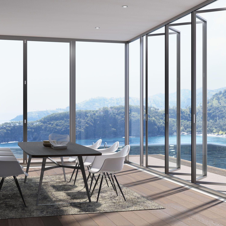 Baie vitrée coulissante-empilable / pliante / en aluminium / à double vitrage - S.75 TT - SUNROOM