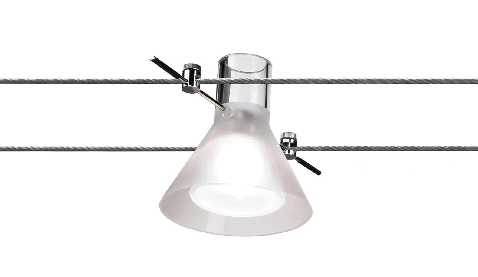 Basse Tension Salle De Bain Éclairage sur câble halogène / rond / en verre soufflé / en