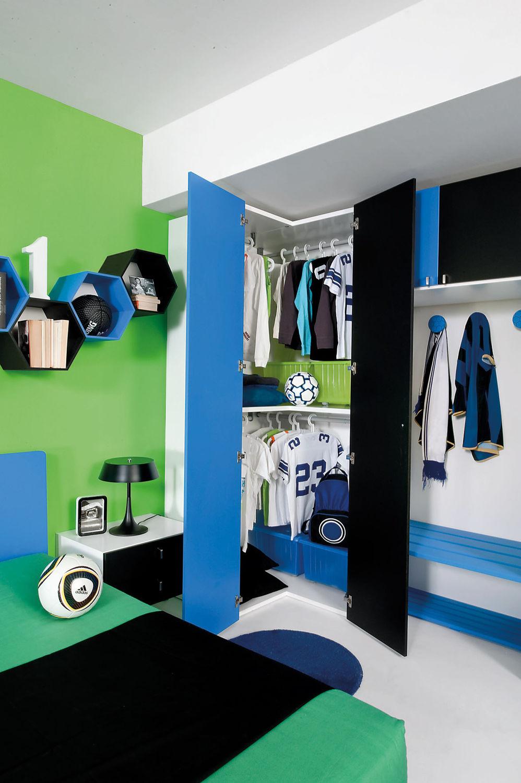 Chambre d\'enfant bleue / pour garçon - SPORT - CALCIO 2 ...