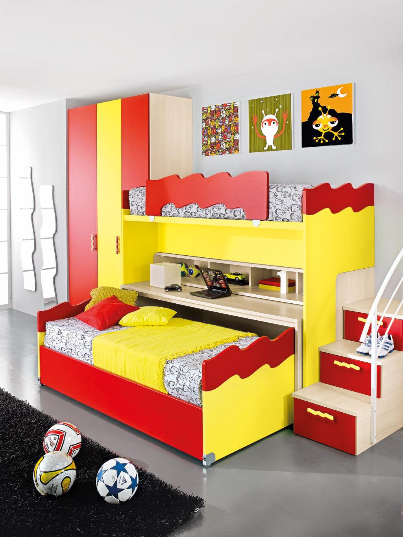 Chambre d\'enfant jaune / mixte - SPORT - CALCIO 7 - Faer ...