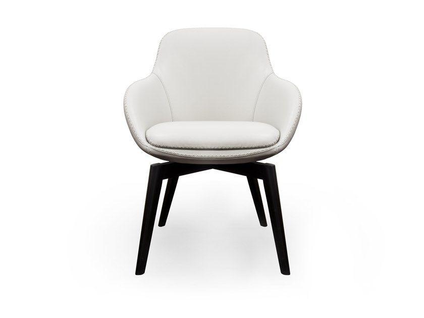 Chaise contemporaine en accoudoirs avec tapissée cuir jR5A4L