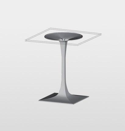 Pied de table en aluminium BGPQ Gaber contemporain