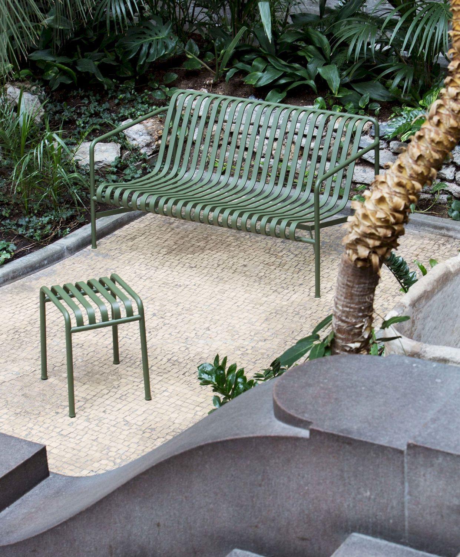 Banc de jardin / contemporain / en acier galvanisé / avec ...