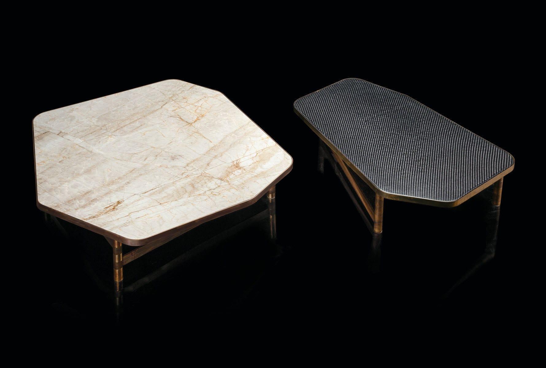 En Bois Massif Basse Table Contemporaine Granite Marbre WH9ED2YI