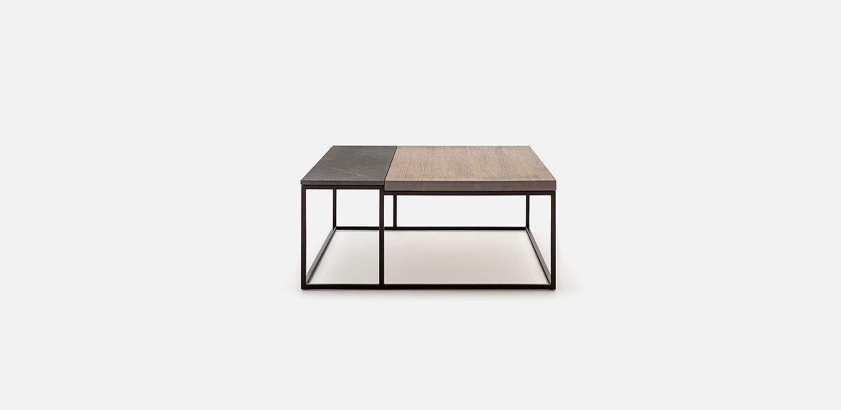Table basse contemporaine / en chêne / en bois massif / en ...