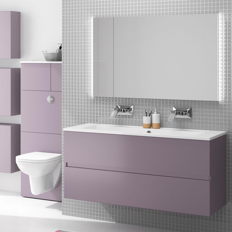 Etagere Pour Vasque A Poser meuble vasque double / suspendu / à poser / en bois - ketty