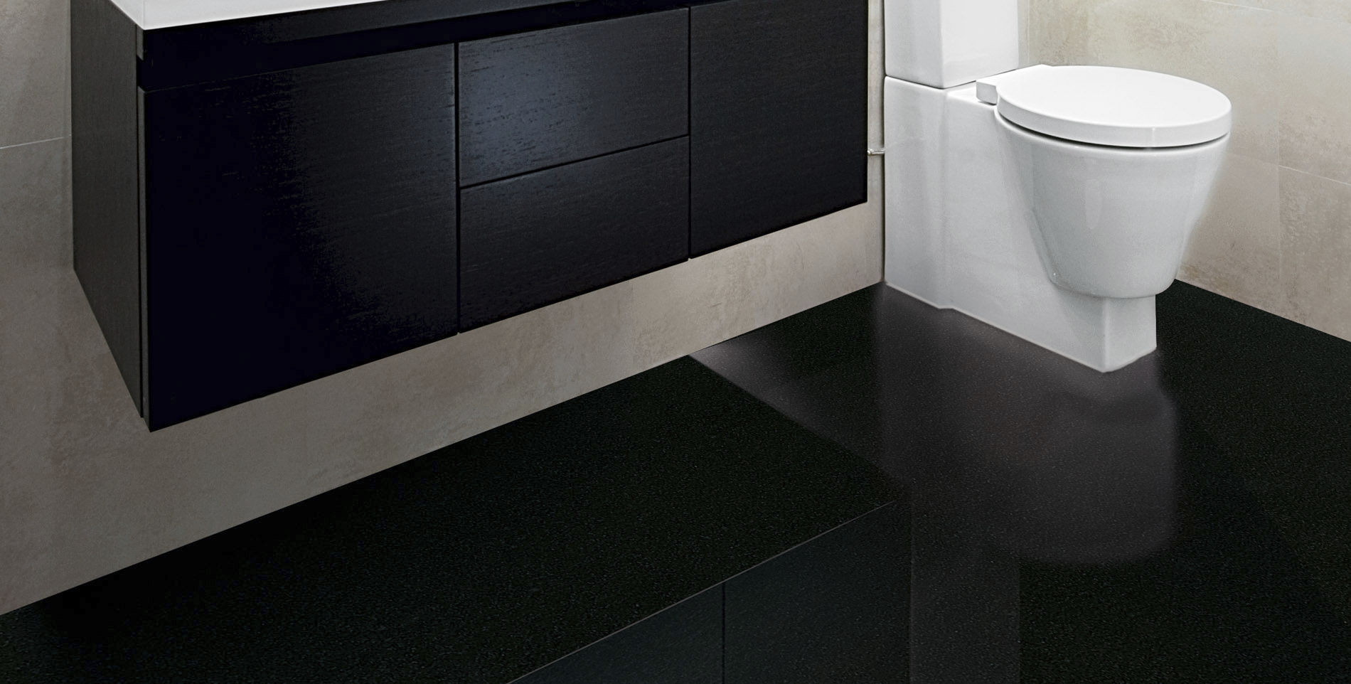 Granit Du Zimbabwe carrelage d'intérieur / de sol / en granit / uni - black