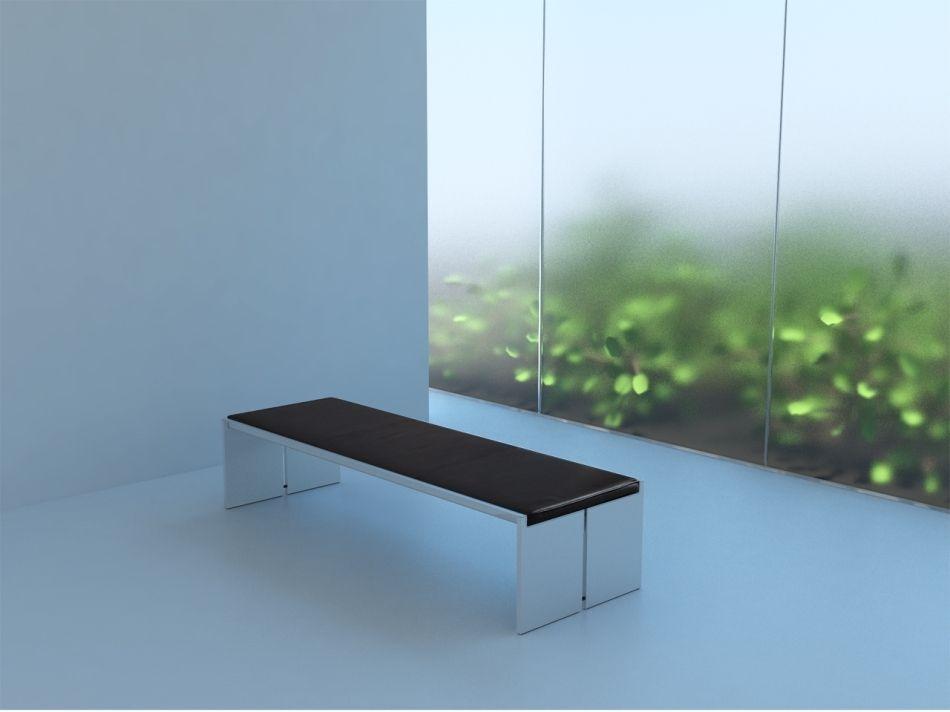 Banc de jardin contemporain - BQ 01 - spectrumdesign - en ...