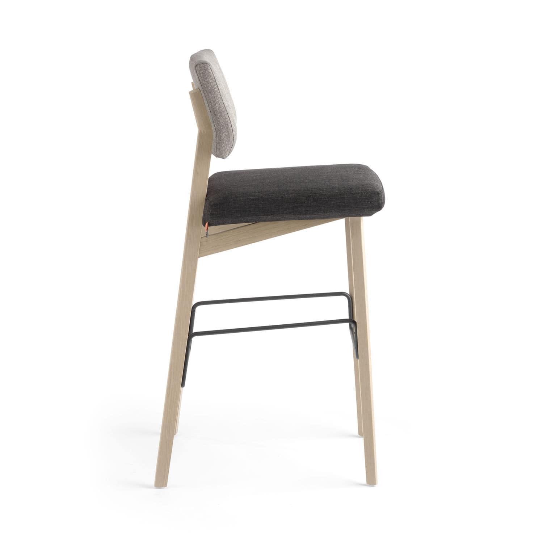 Bar De Tissu Chaise En Hêtre Contemporaine Tapissée wkOnP80