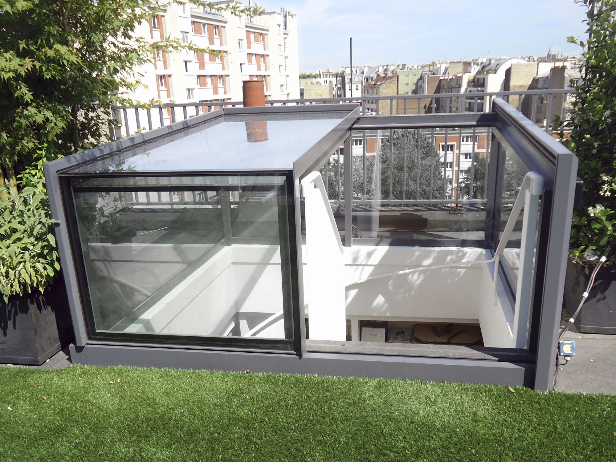 Picture of: Trappe D Acces Au Toit Gv Freestanding Sliding Box Glazing Vision Rectangulaire En Metal Vitree