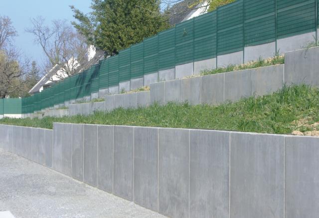 Mur de soutènement en béton armé / préfabriqué / modulaire / pour ...