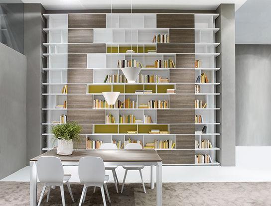 Bibliothèque contemporaine / en bois / en bois laqué - ALTERNO - Le ...