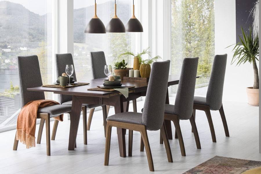 Chaise de salle à manger contemporaine tapissée à