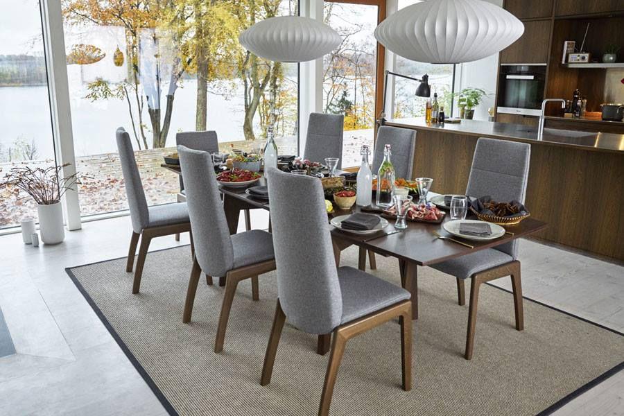 manger Chaise salle contemporaine de à à tapissée l13TFKJc