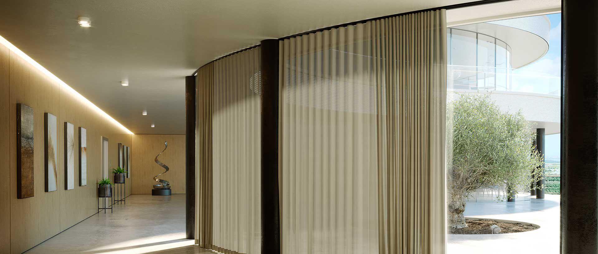 Fixation De Rideau Au Plafond rail à rideaux fixation plafond / fixation murale / avec