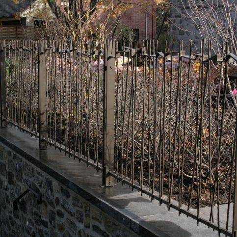 Clôture de jardin / à barreaudage / en fer forgé - BRANCHES ...