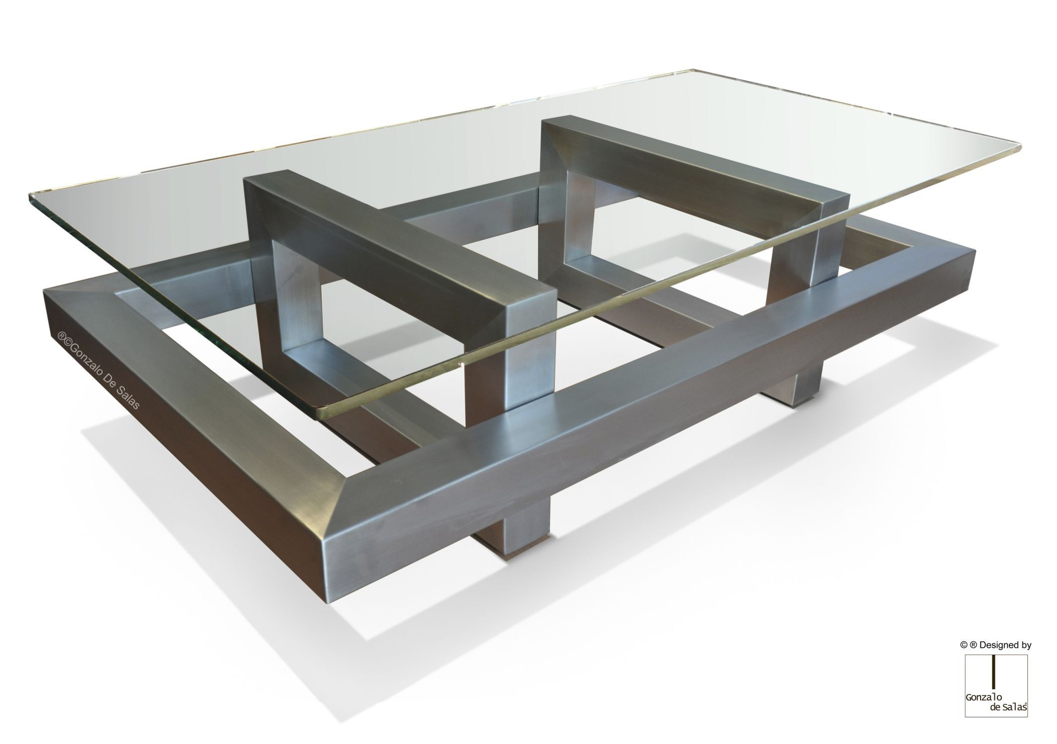 Table Basse En Fer.Table Basse Contemporaine En Metal En Fer En Metal