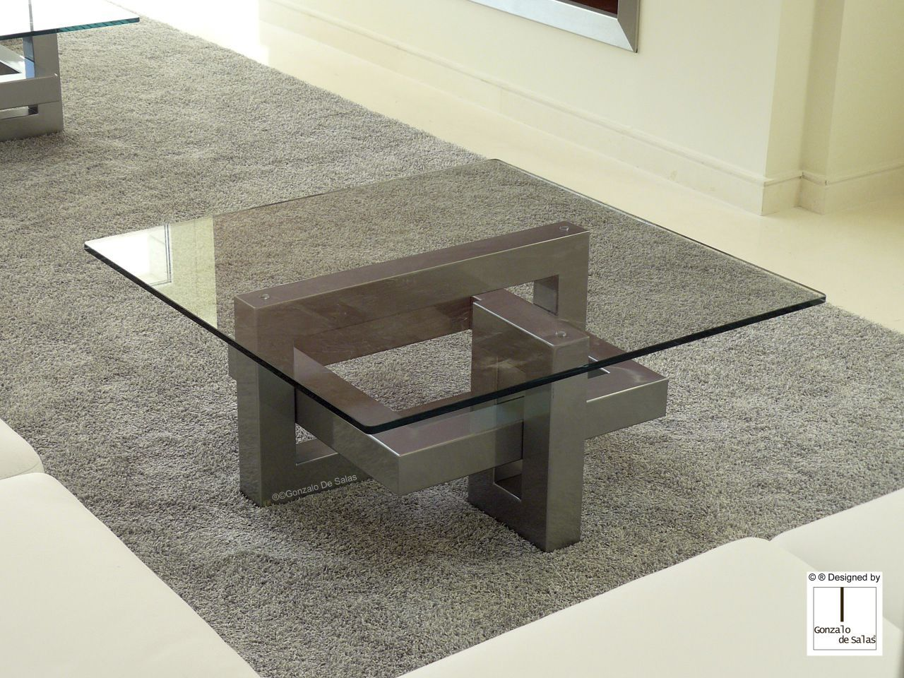 Basse Carrée Verre Table Contemporaine Ios Salas Gonzalo De En rtsCQxhd