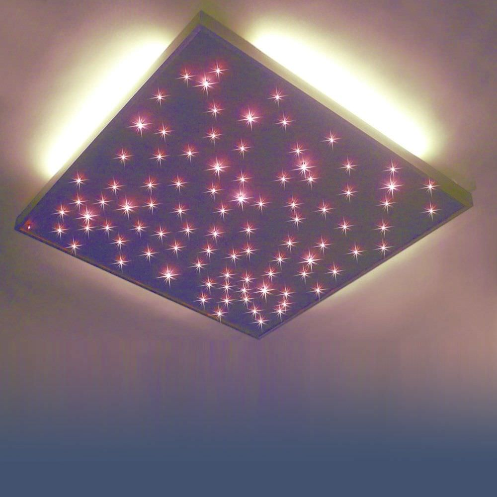 Plafonnier Contemporain Carre En Aluminium A Led Plafond Etoile Semeur D Etoiles