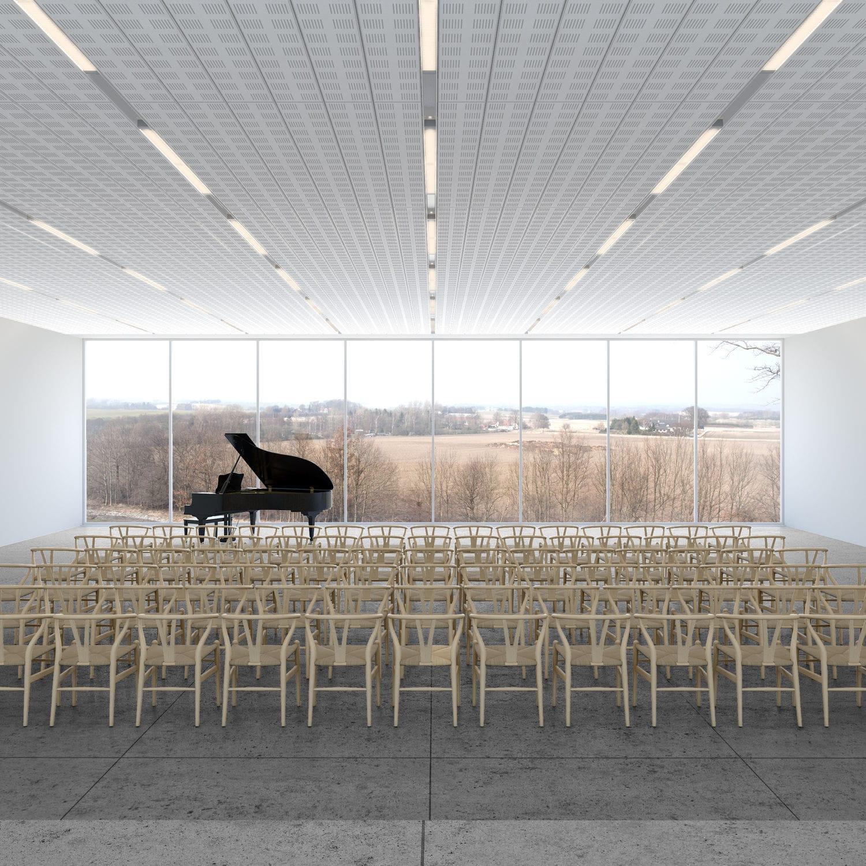 Faux Plafond Suspendu En Dalles Isolantes faux-plafond en plâtre / en dalles / acoustique / perforé