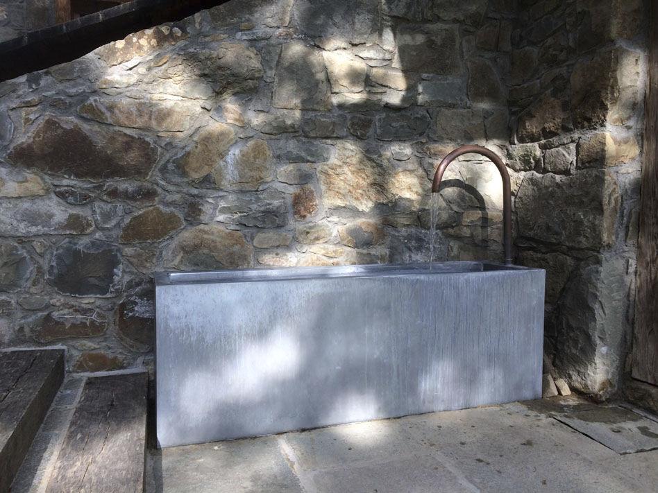 Fontaine de jardin / en zinc - BASSIN \'MOUNTAIN\' by Olivier ...