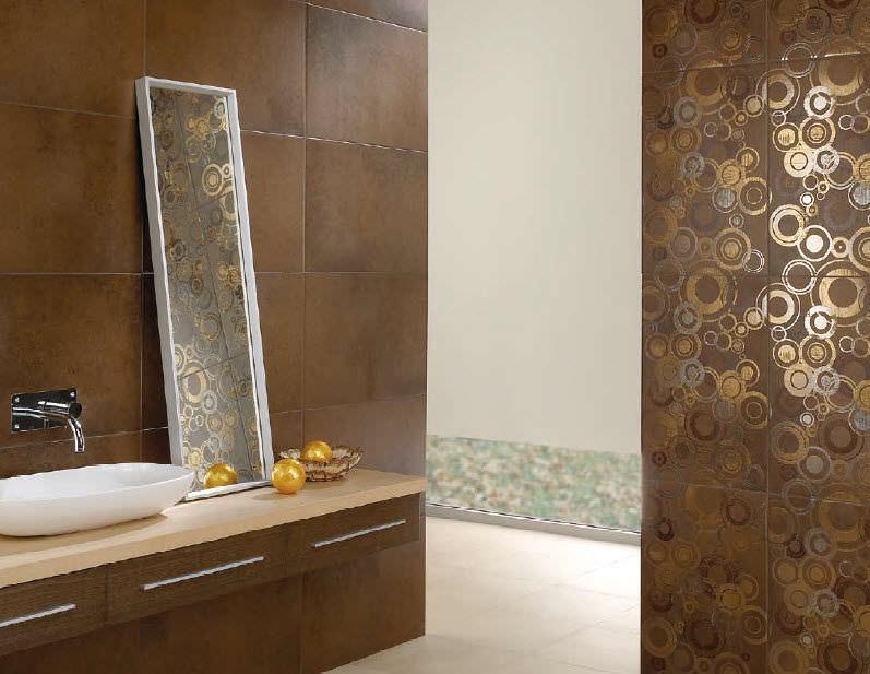 Carrelage d\'intérieur / de salle de bain / mural / en grès cérame ...