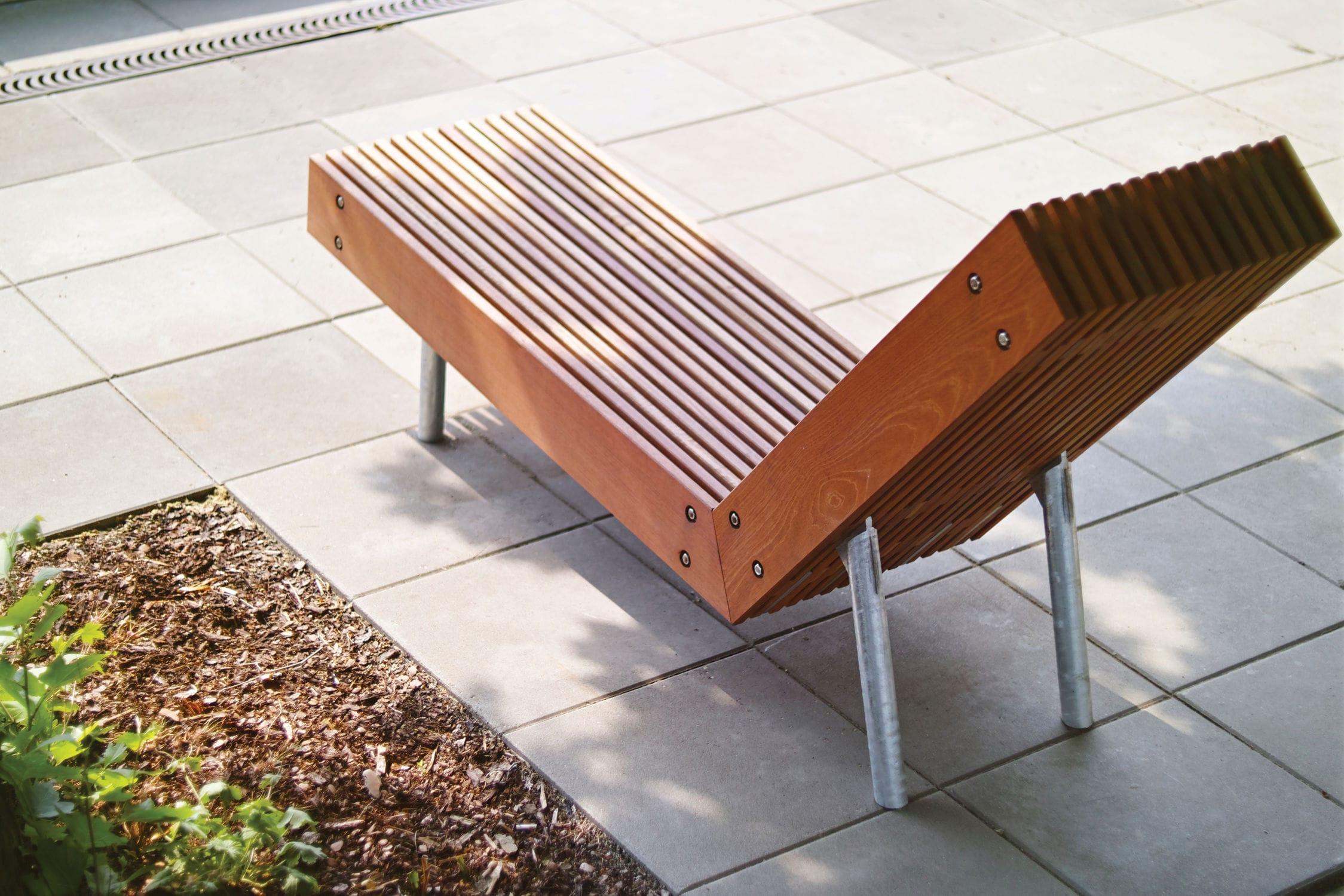 Pour Chaise Espace Public Woody Contemporaine En Bois Longue KJTlcF31