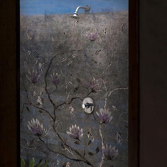 Papier Peint Contemporain A Motif Floral Demetra By