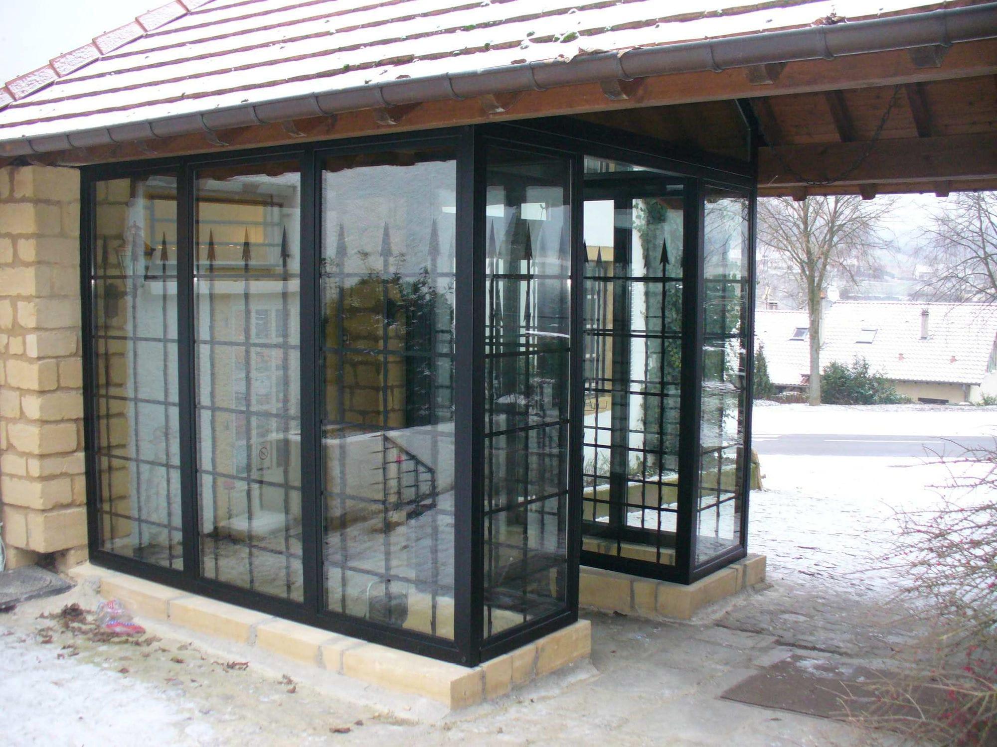 Veranda Metal Et Verre véranda en métal / tout verre - coutier industrie