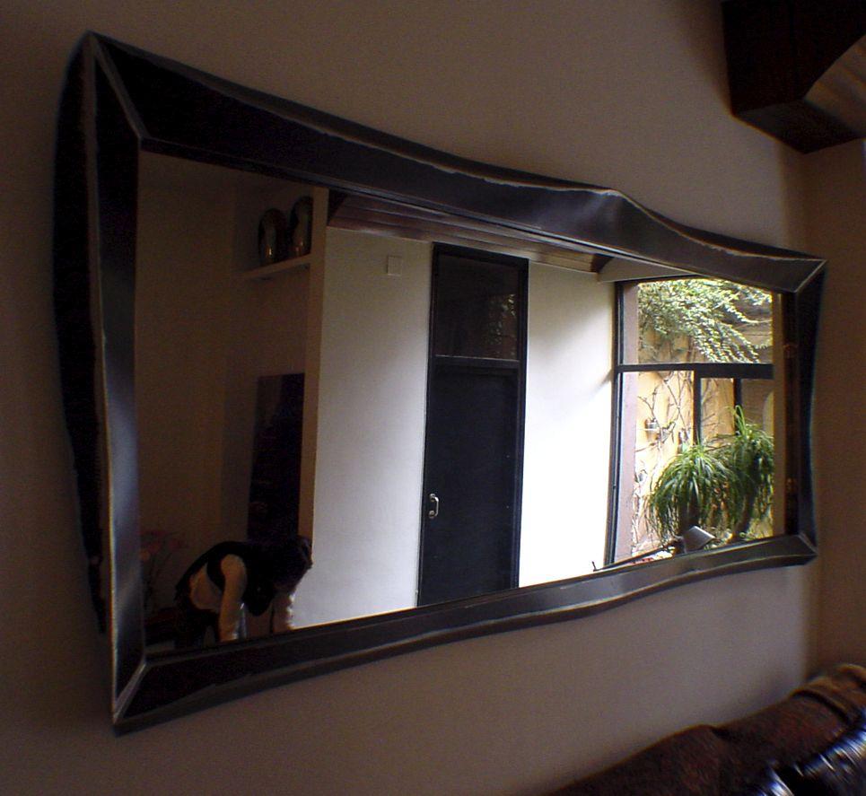 Miroir Mural Suspendu De Salon De Style Industriel