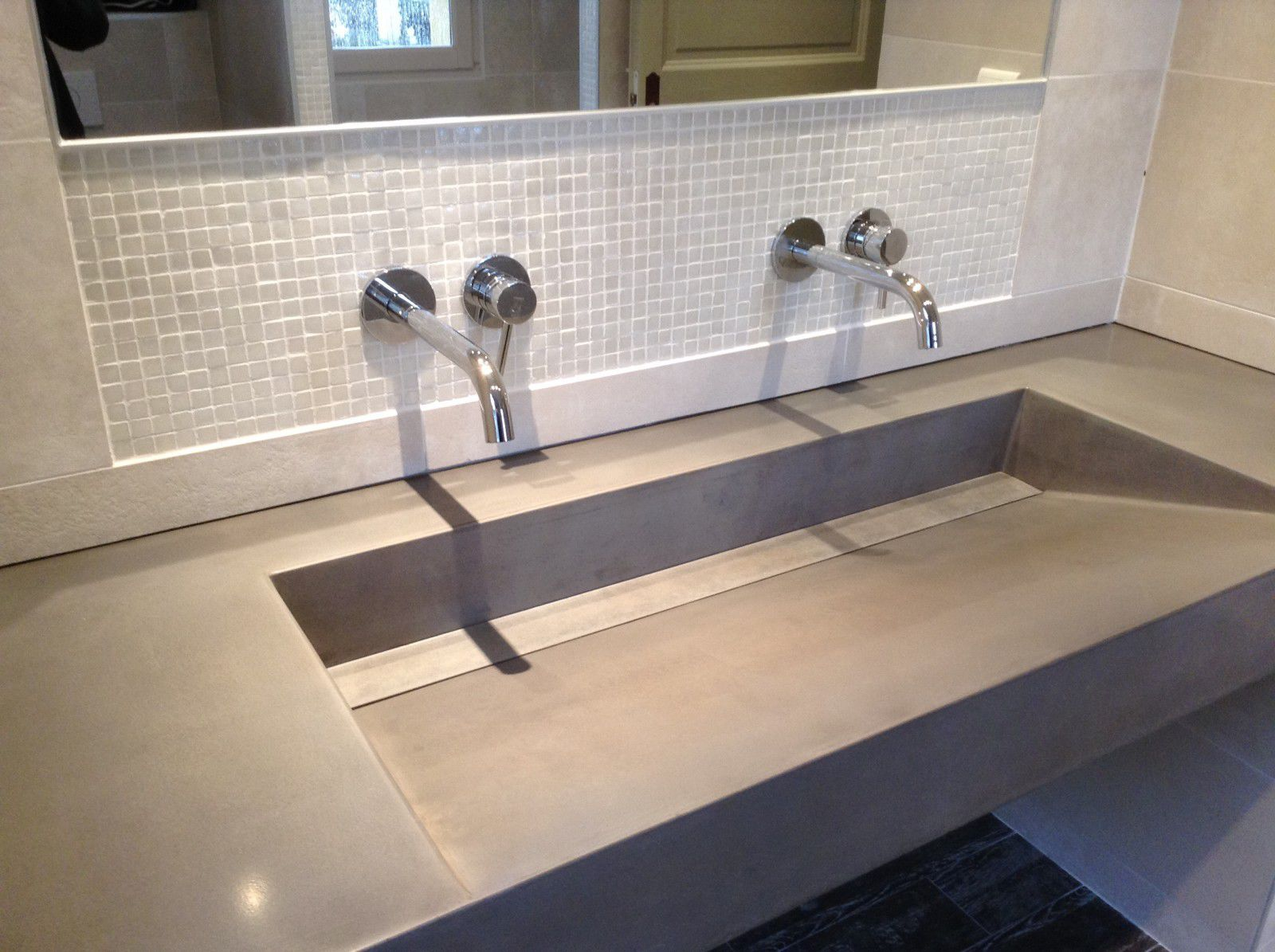 Plan Vasque Sur Mesure plan vasque en béton bfuhp ductal® / sur mesure - lame de