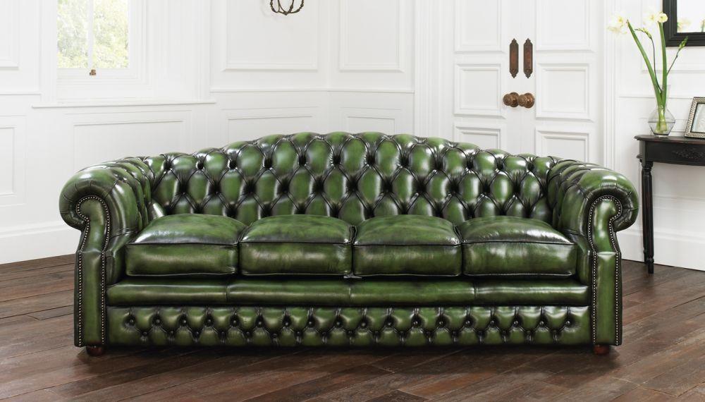 le dernier 9060f 6819b Canapé lit / de style / en cuir / 4 places - BUCKINGHAM ...