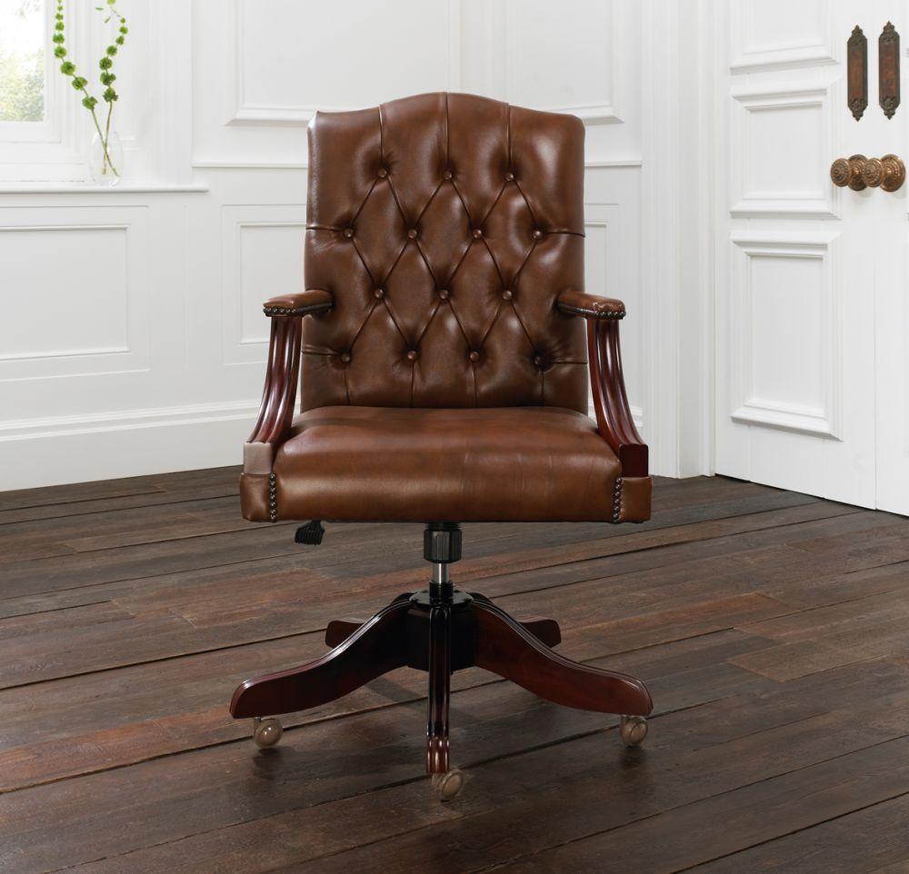 chaise de bureau cuir anglais