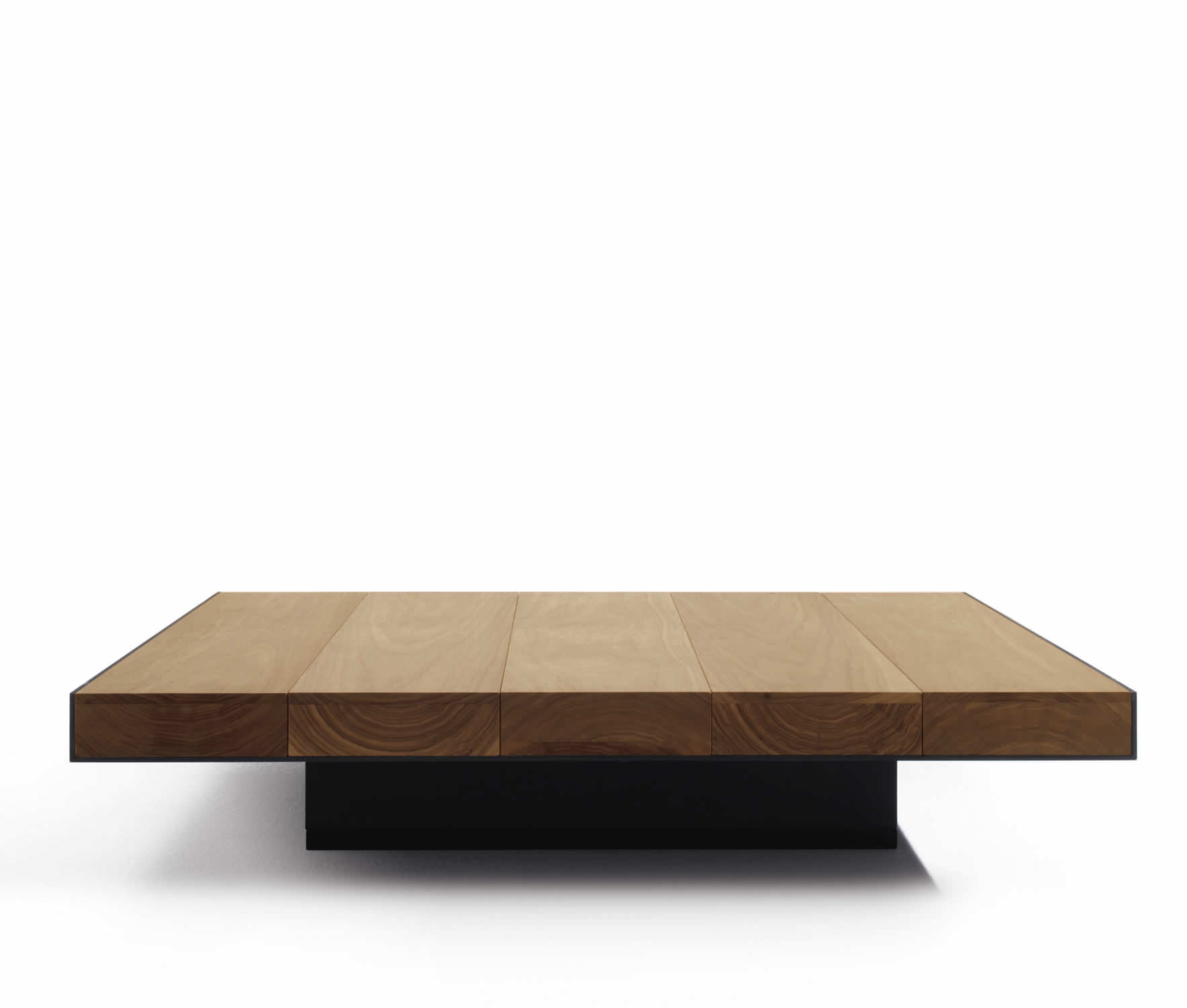 Table Deck Contemporaine Métal Basse Carrée En Noyer vYbf6gy7