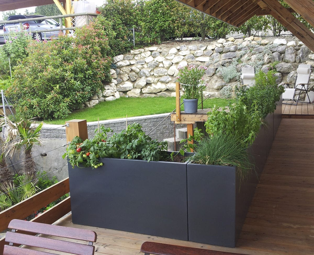 Jardiniere En Fibro Ciment Rectangulaire Sur Mesure A