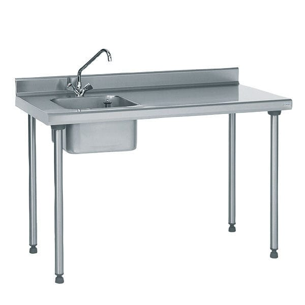Table De Preparation En Acier Inox Avec Evier 804 851 Tournus