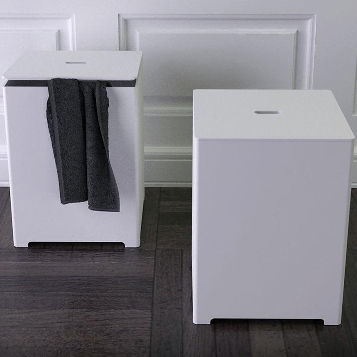 Tabouret contemporain / en Solid Surface / de salle de bain ...