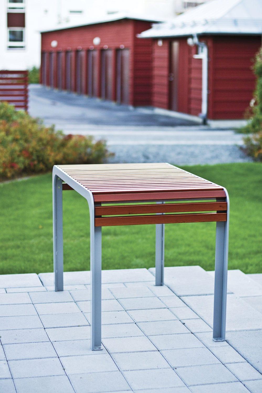 Table Bois Metal Exterieur table design scandinave / en bois / rectangulaire / d
