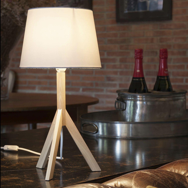 HAT Lampe de table contemporaine en tissu en bois by Faro Barcelona | ArchiExpo