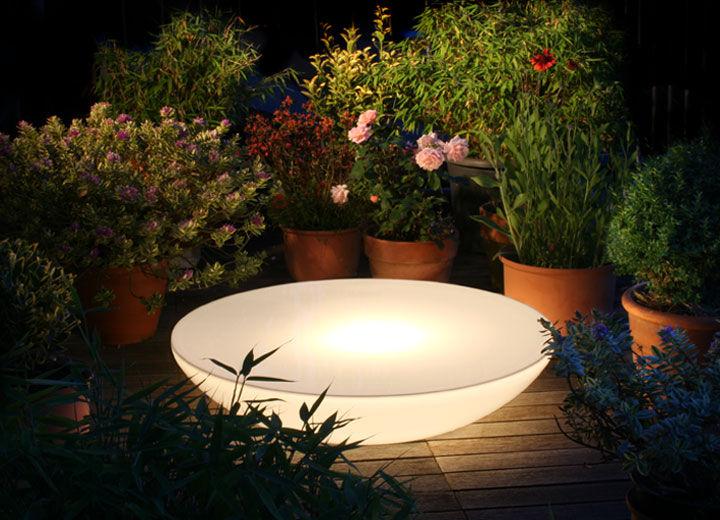 Table Basse Contemporaine En Plastique Ronde De Jardin