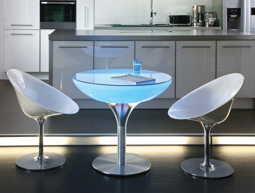 table bistrot contemporaine / en aluminium / ronde / de jardin